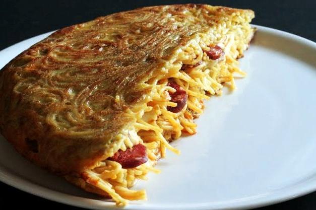 Frittata di spaghetti alla calabrese