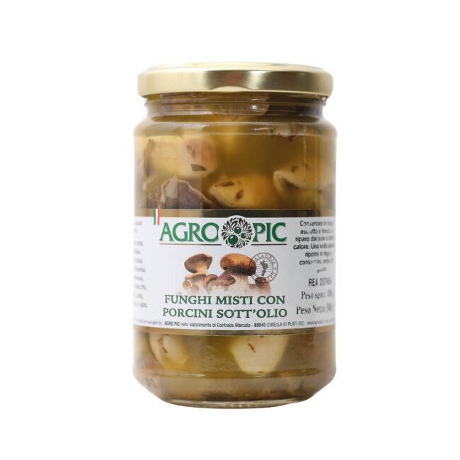 Funghi misti con Porcini sottolio Agro Pic