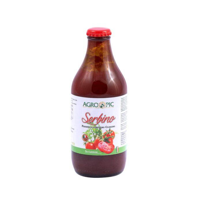 Salsa di Pomodoro Ciliegino da serbo, prodotta da azienda agricola Agro Pic